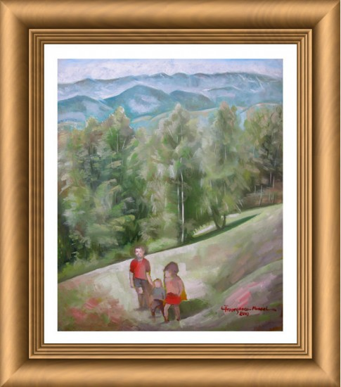 Children in landscape